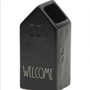 """Rae Dunn """"WELCOME"""" House Shaped Vase"""